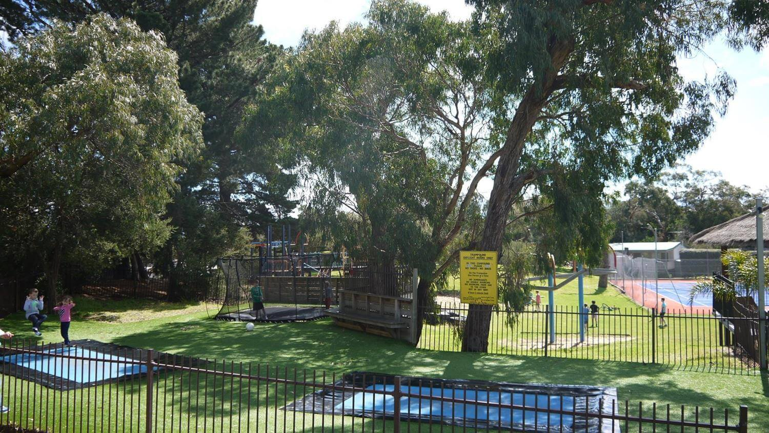 Amberlee Four Star Family Holidays park with inground trampoline