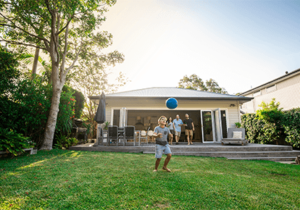 Patterson-Finance-Echuca-home-and-investment family playing outside cabin