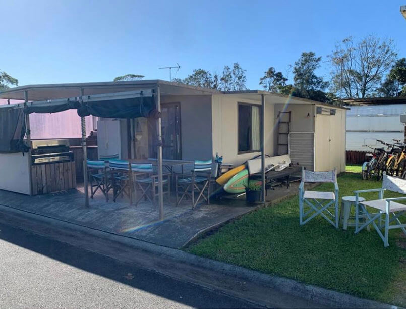 Site 61 - Holiday Haven Currarong caravan with outdoor areas