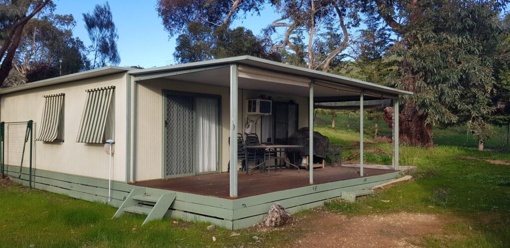 Site 164 - Bonnie Doon's Lakeside Leisure Resort cabin with big veranda