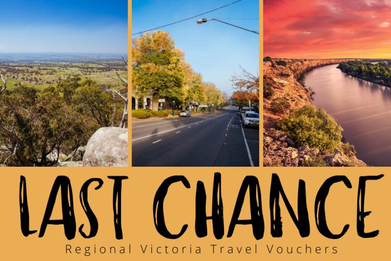 Victorian Regional Travel Voucher - Last Chance!