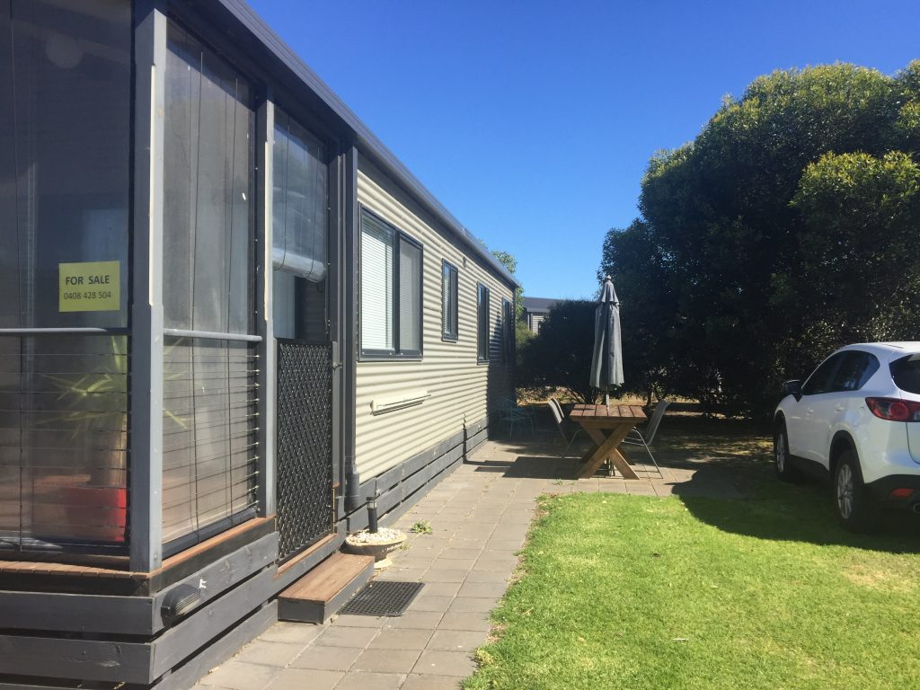 Site 127 - Swan Bay Holiday Park external cabin